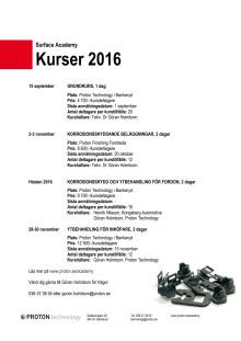 Kursdatum Surface Academy 2016