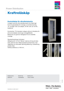 Kraftreläskåp - Kontrollskåp för elkraftsindustrin