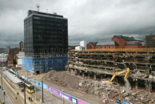 Rochdale town centre changing fast