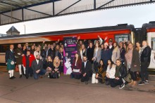 Lincoln's budding models, designers and stylists arrive in first-class fashion with Virgin Trains