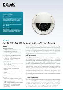Produktblad - IP-kamera D-Link DCS-6513
