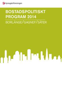 Bostadspolitiskt program Borlänge/Gagnef/Säter
