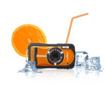Pentax' vandtætte Optio W90 nu også i orange