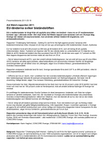 Aid Watch-rapporten 2011: Challenging Self-Interest - Getting EU aid fit for the fight against poverty