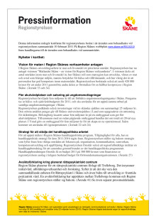 Pressinformation regionstyrelsen 20110210