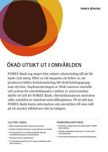 Kundcase FOREX Bank: Ökad utsikt ut i omvärlden