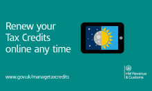 Record numbers renew their tax credits online
