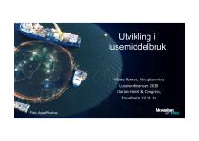 Presentasjon FHF konferanse, Mette Remen: Utvikling lusemiddelbruk 2018