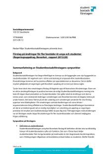 Remiss: Förslag på ändringar för fler bostäder åt unga och studenter