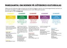 Schema: Panelsamtal om boende på Göteborgs Kulturkalas