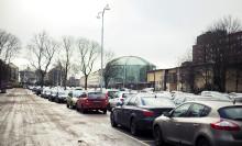 Parkeringsplatser krymper när staden växer