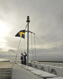 Sjöfartshistoria när Gotlandsbåtens fartyg svenskflaggas