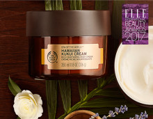 "The Body Shop Hawaiian Kukui Cream voitti Elle International Beauty Awards -palkinnon kategoriassa ""Vuoden Vartalovoide"""