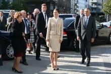 Kronprinsessan och Portugals president på besök i Turning Torso