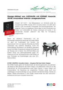 Design-Möbel von LECHUZA mit ICONIC Awards 2018: Innovative Interior ausgezeichnet