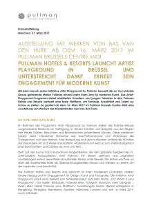Pullman Artist Playground Launch Brüssel