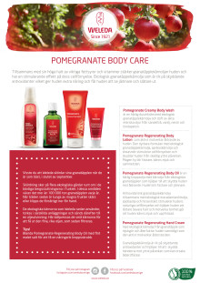 Samlingsblad Pomegranate Body Care