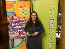 Elgin teacher scoops top award for getting youngsters biking