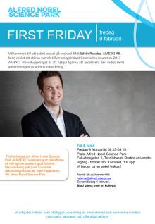First Friday - denna gång andra fredagen - 9/2!