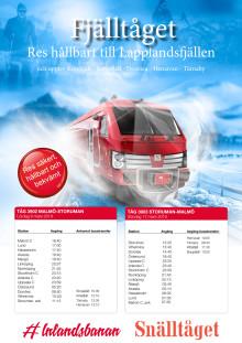 Fjälltåget tidtabell v11