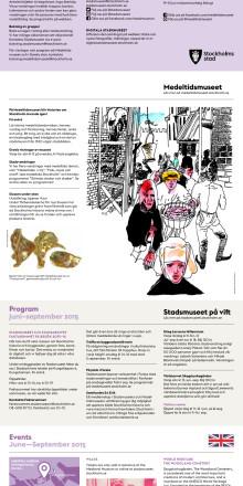 Stadsmuseet och Medeltidsmuseet juni–september 2015