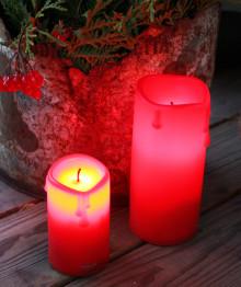 Röda ljus med skymningssensor