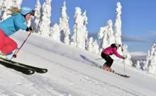 Superfina snöförhållanden i backar och spår