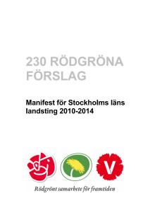 Rödgröna förslag för landstinget