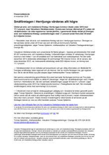 Värdebarometern 2015 Herrljungas kommun