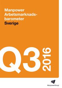 Manpower Arbetsmarknadsbarometern Q3 2016