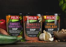 Felix Veggie växer med tre vegetariska soppor