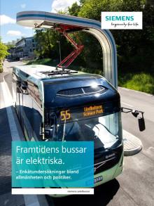Framtidens bussar är elektriska - rapport om svenskars attityder till elbussar