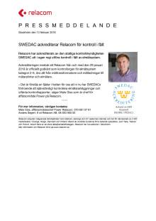 SWEDAC ackrediterar Relacom för kontroll i fält