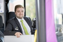 Sju av tio resenärer anser att bussföraren har ett trevligt bemötande