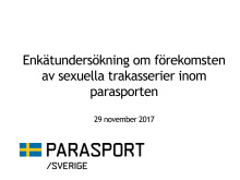 Parasport Sveriges externa undersökning med anledning av #MeToo