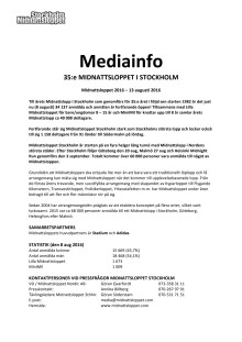 Mediainformation Midnattsloppet Stockholm 2016