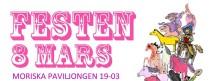 Festen 8 Mars: Konsert med Planningtorock, Tiffany Kronlöf mm på Moriska Paviljongen