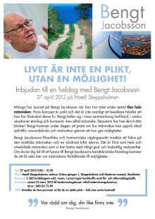 Inbjudan till en heldag med Bengt Jacobsson