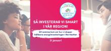 Seminarium om hur vi skapar hållbara energiinvesteringar i Norrbotten, 31 januari
