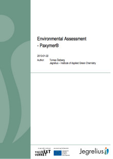 "Paxymer ""a big step closer to a sustainable society"" states 3rd party audit"
