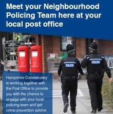 Two more post offices on the Isle of Wight adopted by Neighbourhood Policing Teams.