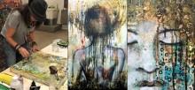 Vernissage med konst från Jenny Grant på Galleri Ulfsunda