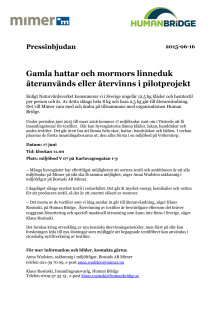 Gamla hattar och mormors linneduk återanvänds eller återvinns i pilotprojekt