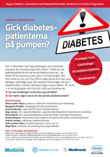 Gick diabetespatienterna på pumpen? - Inbjudan till seminarie på Almedalsveckan