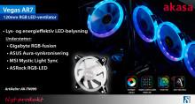 Universal farvesynkroniserende RGB LED-blæser