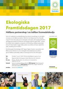 Inbjudan/program Ekologiska Framtidsdagen 2017