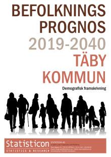 Befolkningsprognos Täby kommun 2019-2040
