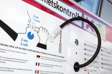 MHF på turné i västsverige med alkobommen - en anläggning för nykterhetskontroll