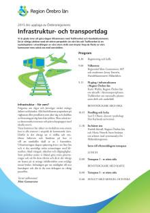 Program för Örebroregionens Infrastruktur- och transportdag 2015