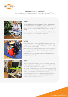 Freedesk för hem, skola och kontor